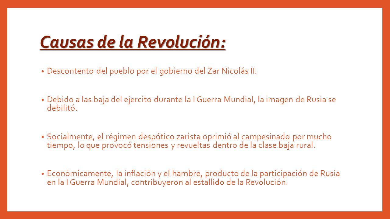 Causas de la Revolución:
