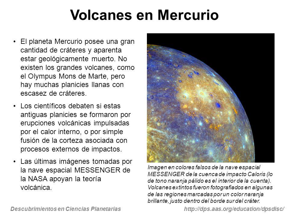 Volcanes en Mercurio