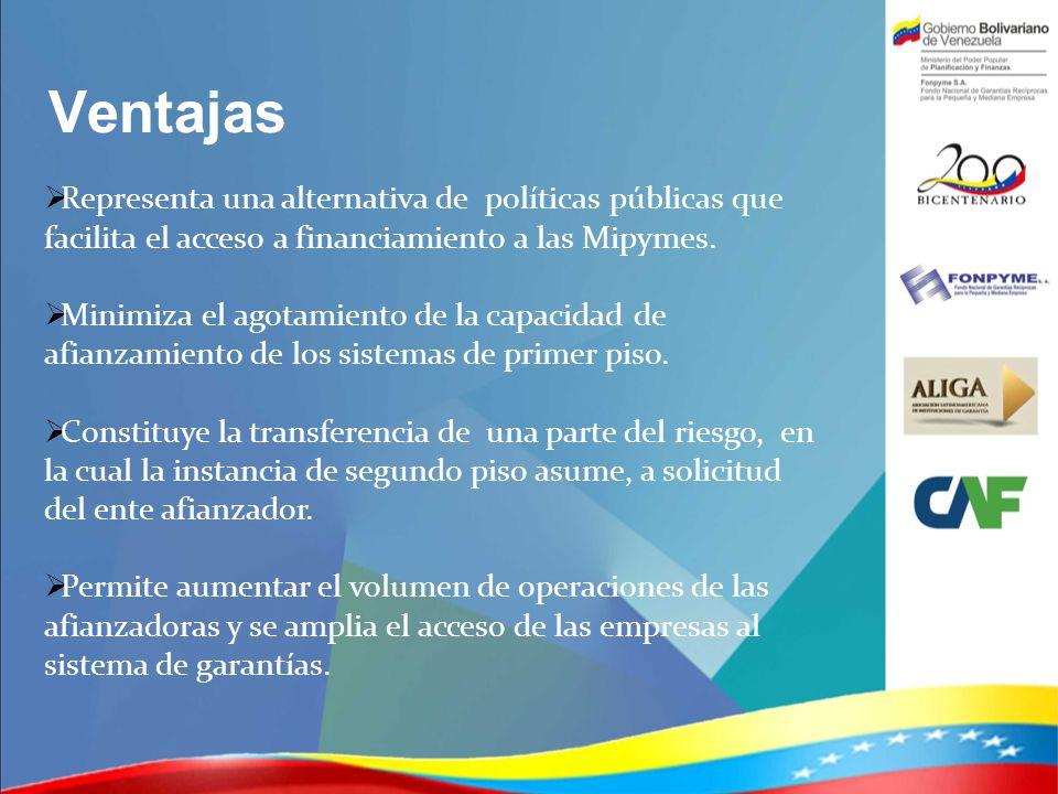 VentajasRepresenta una alternativa de políticas públicas que facilita el acceso a financiamiento a las Mipymes.