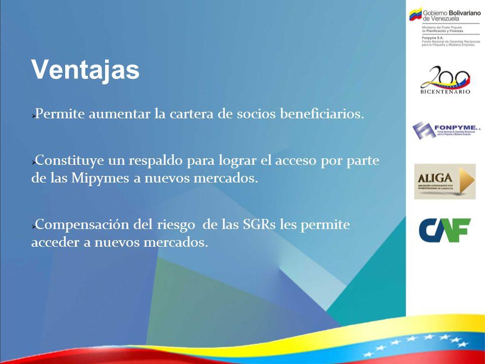 Ventajas Permite aumentar la cartera de socios beneficiarios.
