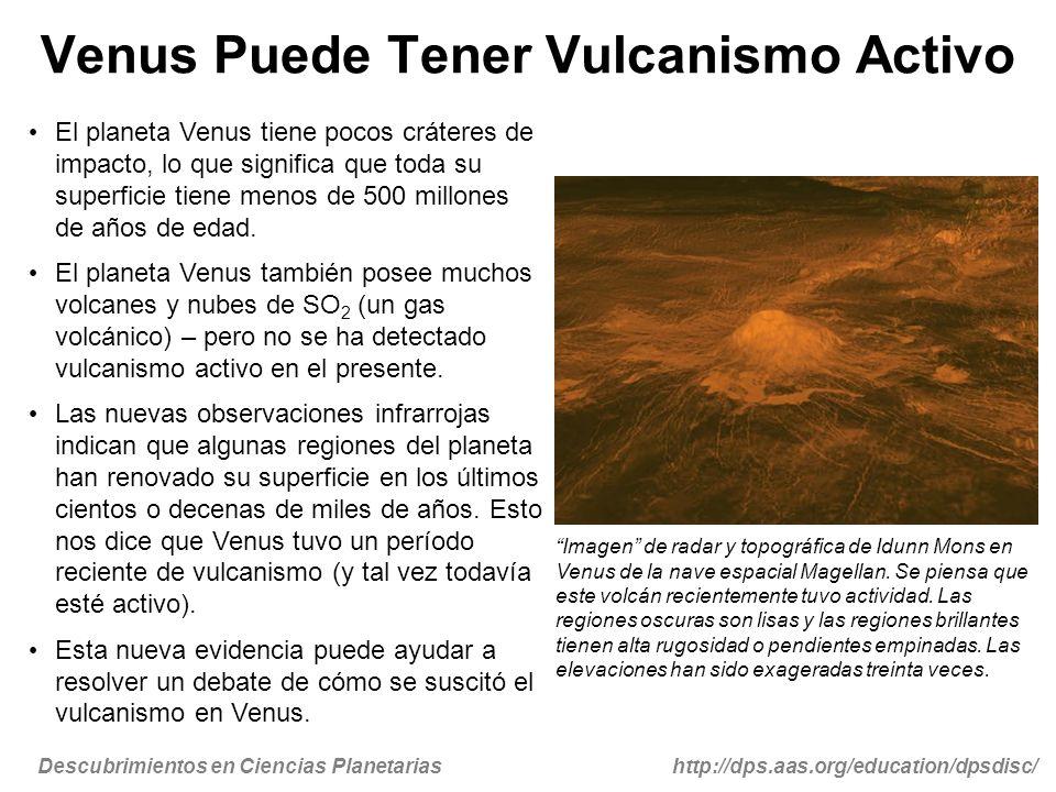 Venus Puede Tener Vulcanismo Activo