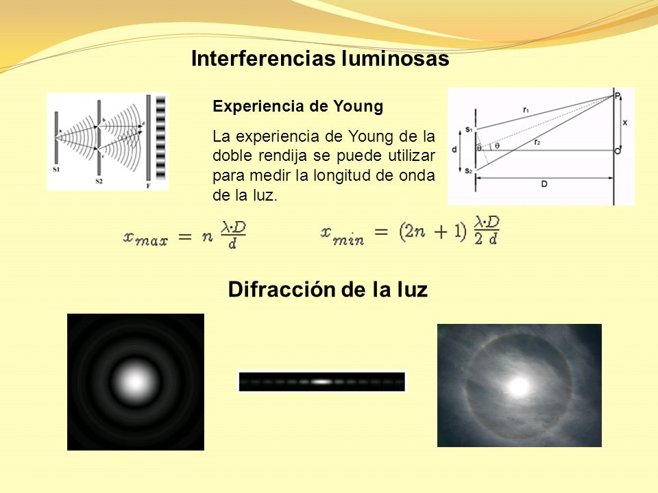 Interferencias luminosas