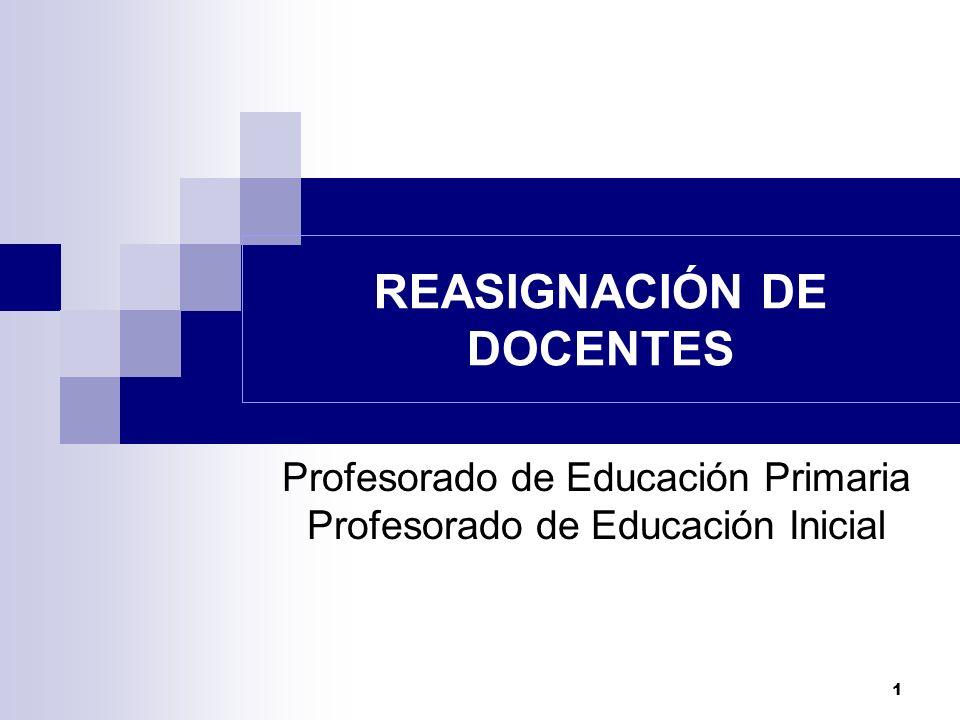 REASIGNACIÓN DE DOCENTES
