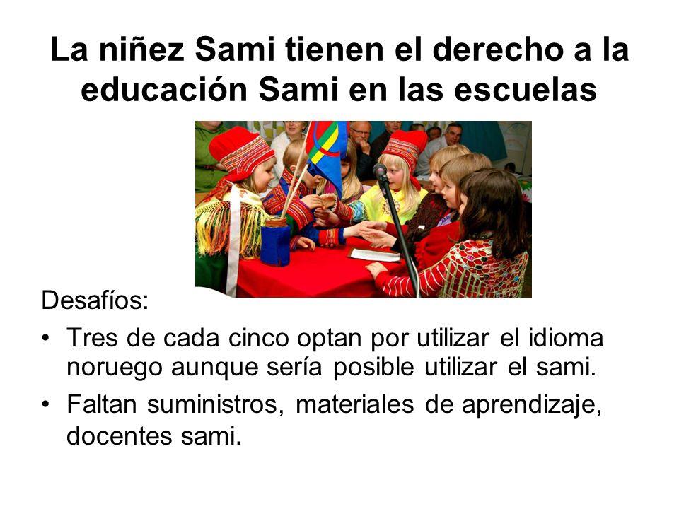 La niñez Sami tienen el derecho a la educación Sami en las escuelas