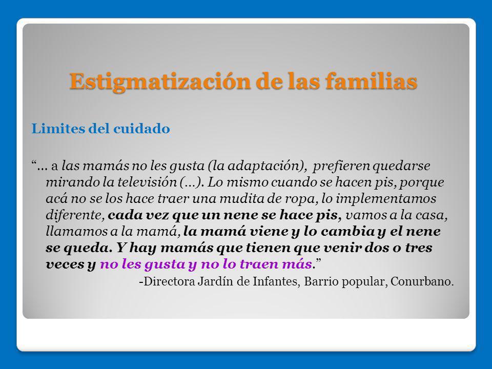 Estigmatización de las familias