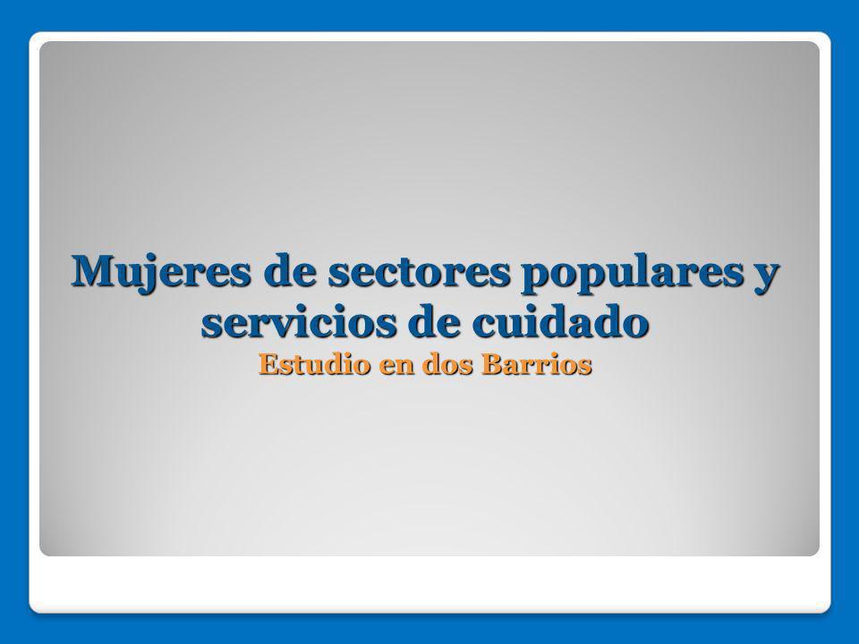 Mujeres de sectores populares y servicios de cuidado Estudio en dos Barrios