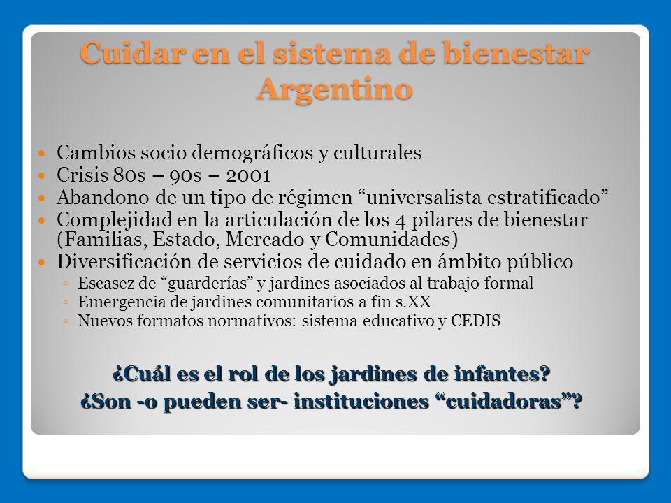 Cuidar en el sistema de bienestar Argentino