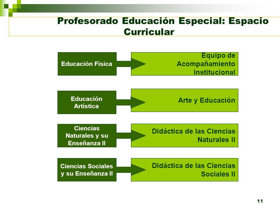 Profesorado Educación Especial: Espacio Curricular