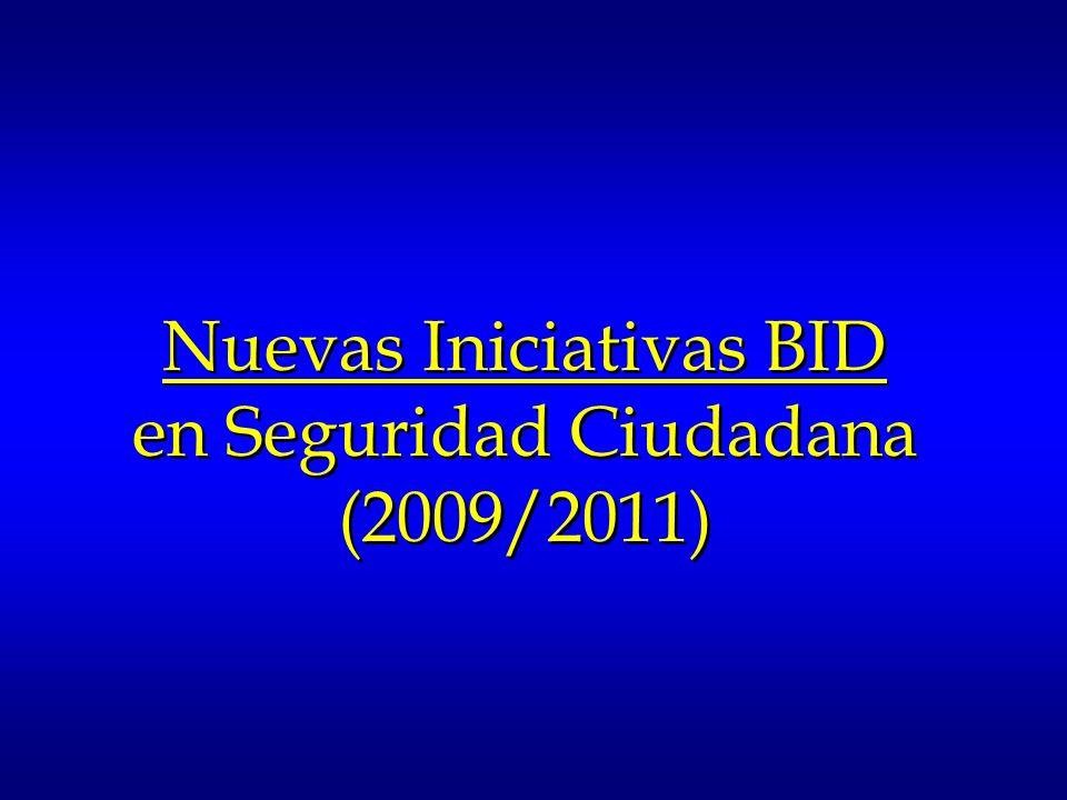 Nuevas Iniciativas BID en Seguridad Ciudadana (2009/2011)