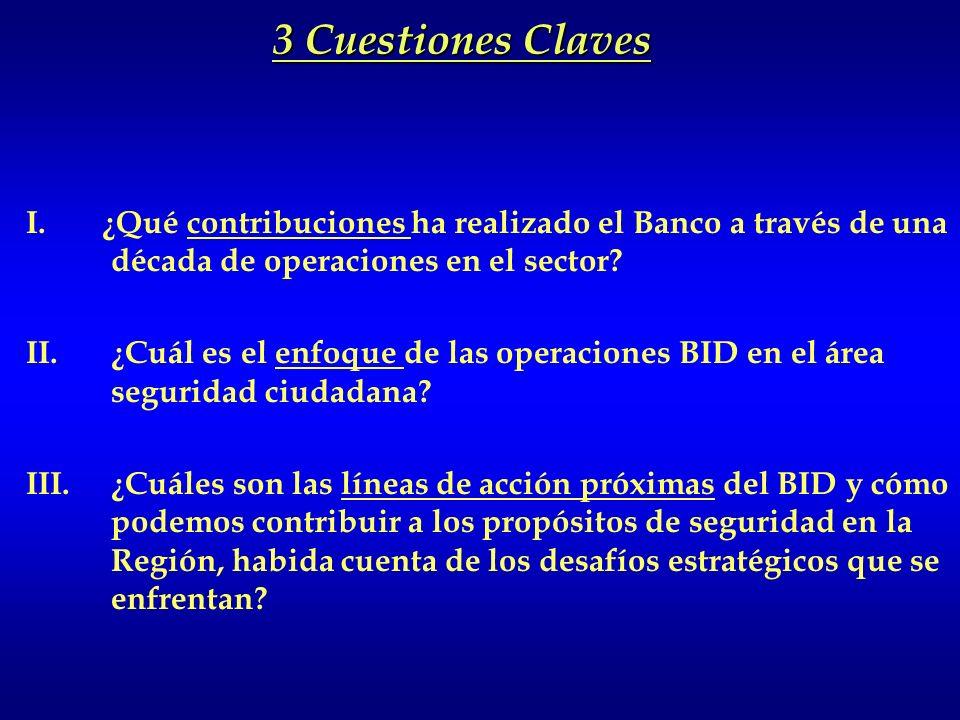 3 Cuestiones Claves I. ¿Qué contribuciones ha realizado el Banco a través de una década de operaciones en el sector