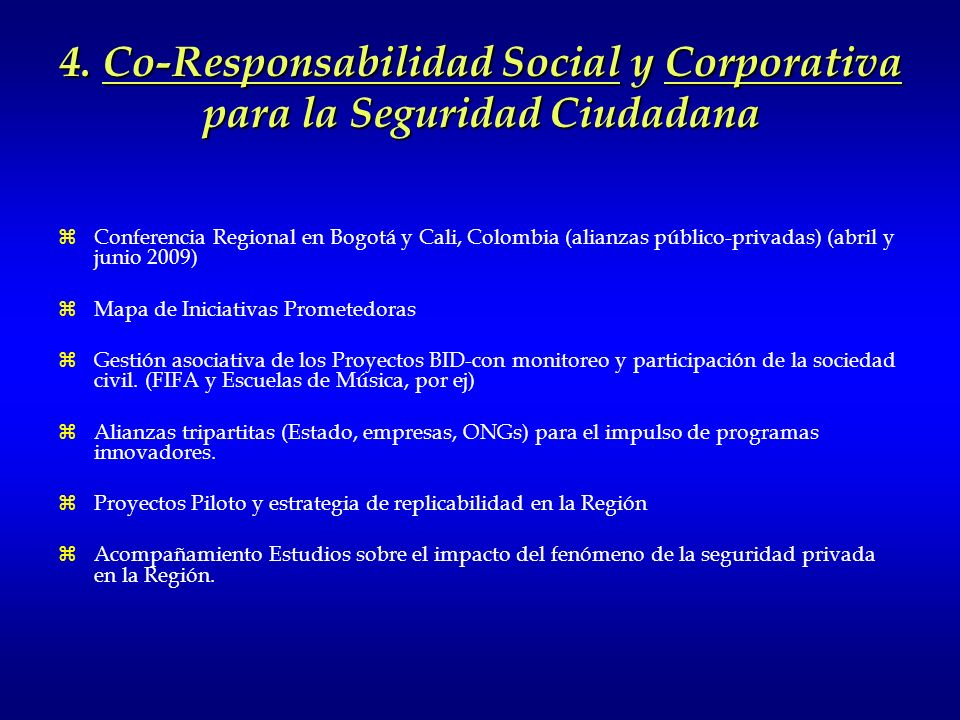 4. Co-Responsabilidad Social y Corporativa para la Seguridad Ciudadana