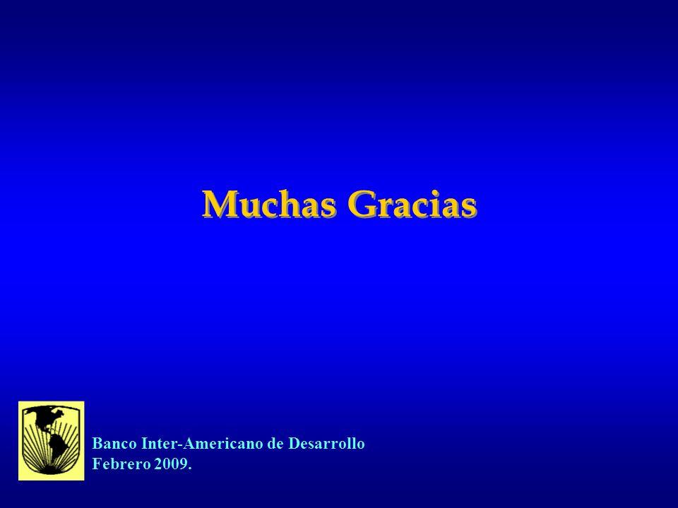 Muchas Gracias Banco Inter-Americano de Desarrollo Febrero 2009.