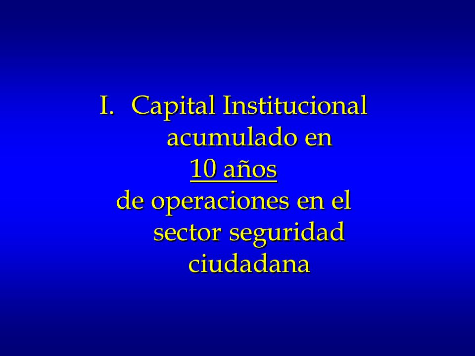 Capital Institucional acumulado en 10 años