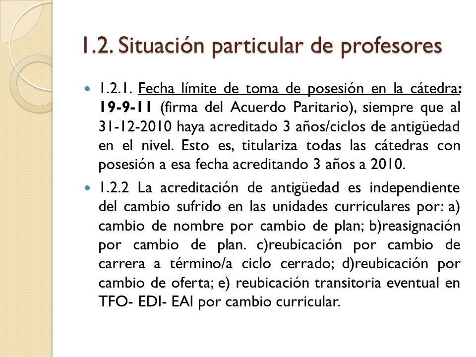 1.2. Situación particular de profesores