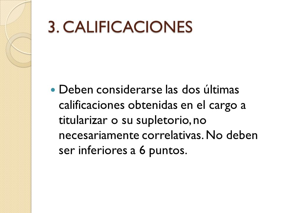 3. CALIFICACIONES