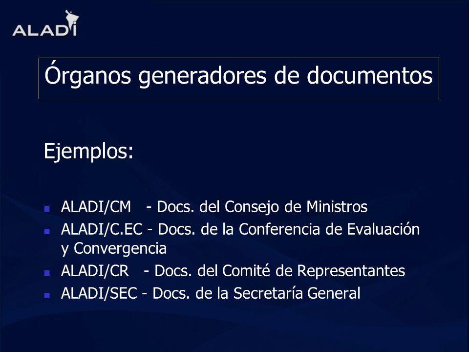 Órganos generadores de documentos