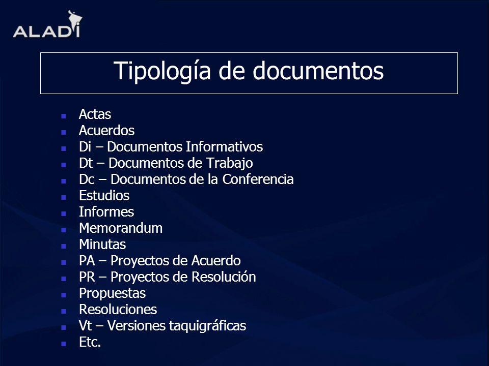 Tipología de documentos