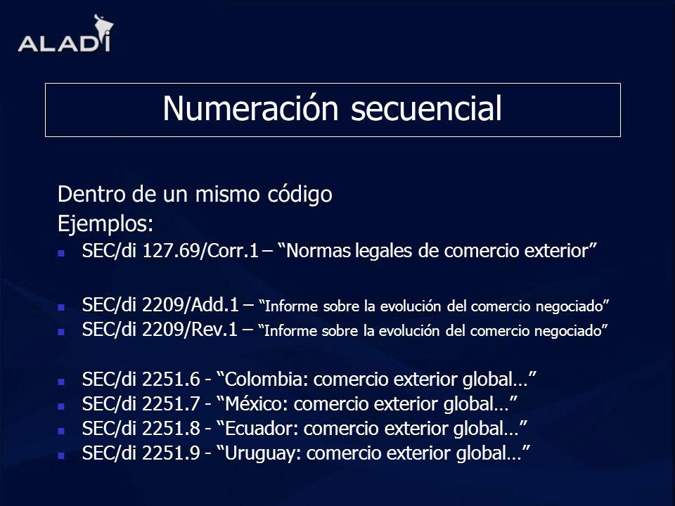 Numeración secuencial