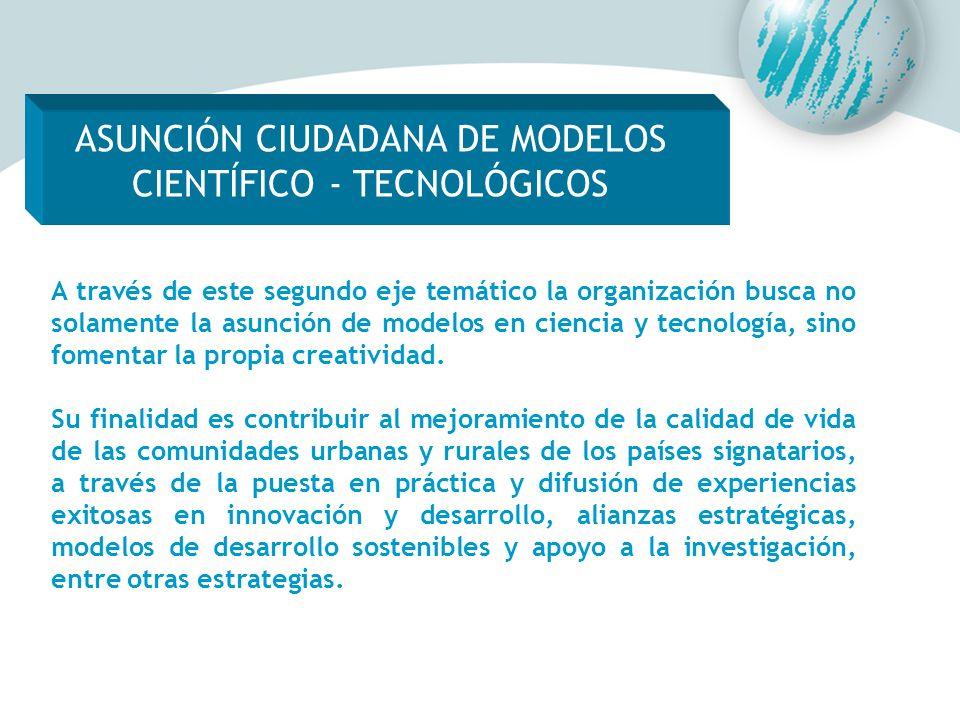 ASUNCIÓN CIUDADANA DE MODELOS CIENTÍFICO - TECNOLÓGICOS