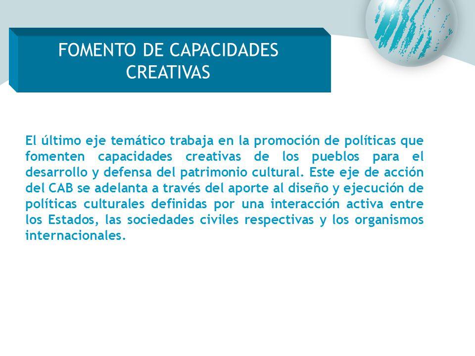 FOMENTO DE CAPACIDADES CREATIVAS