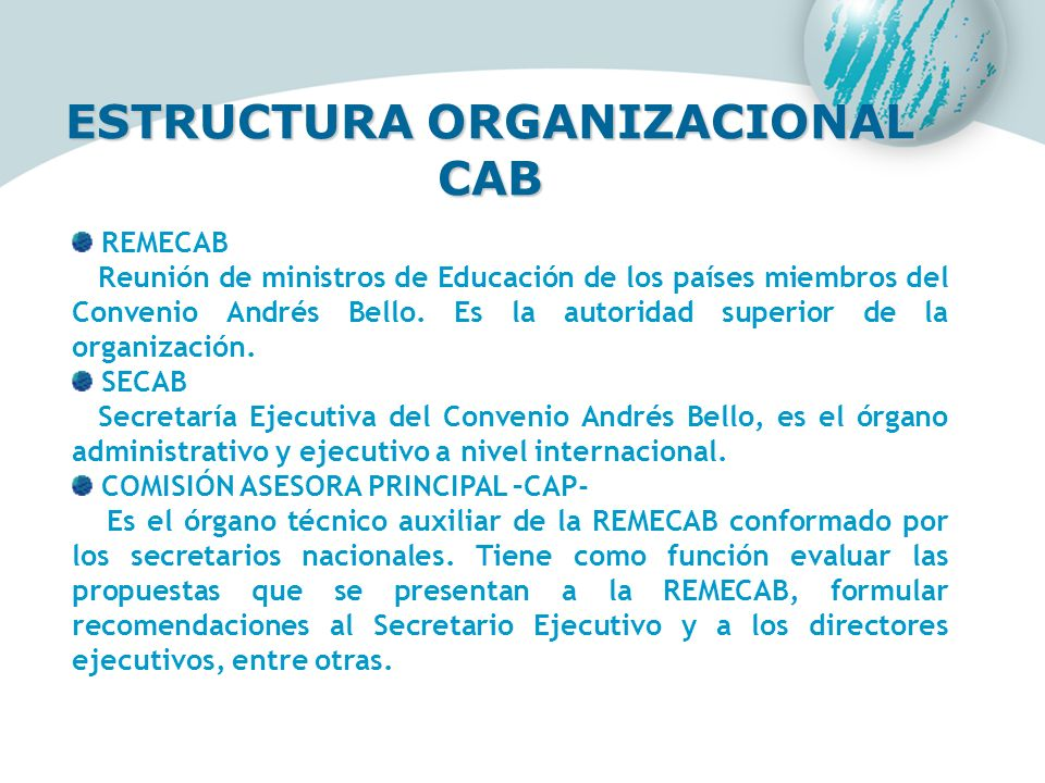 ESTRUCTURA ORGANIZACIONAL CAB