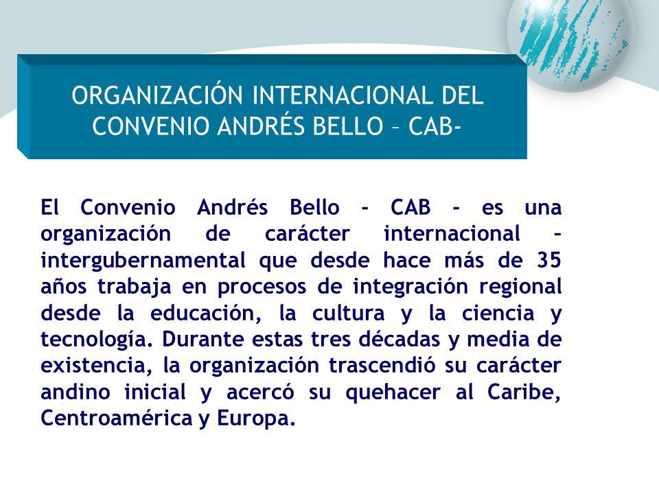 ORGANIZACIÓN INTERNACIONAL DEL CONVENIO ANDRÉS BELLO – CAB-