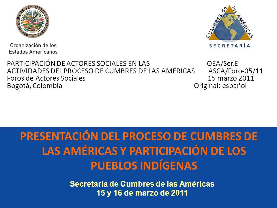 Secretaría de Cumbres de las Américas
