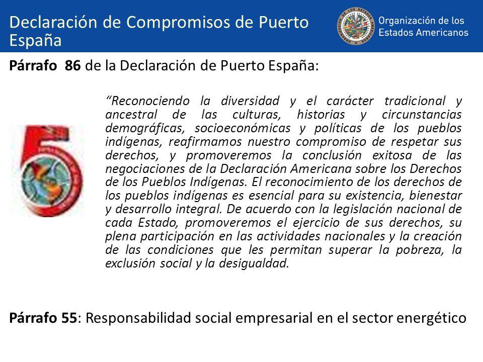 Declaración de Compromisos de Puerto España
