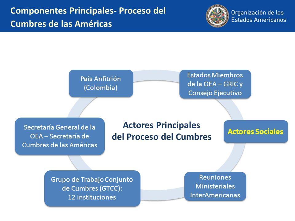 Componentes Principales- Proceso del Cumbres de las Américas
