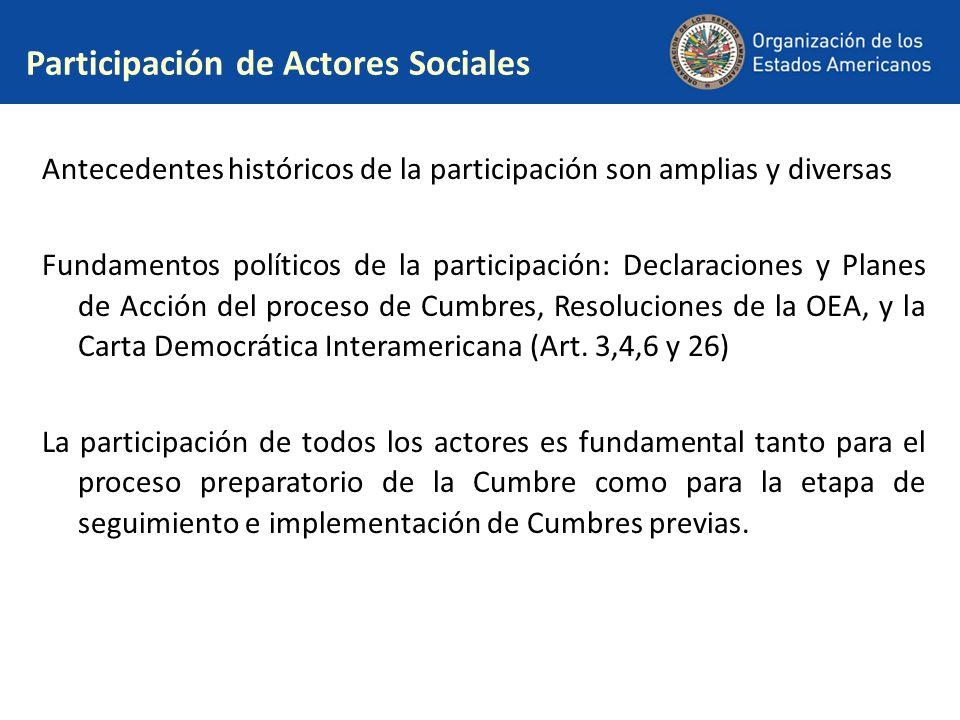 Participación de Actores Sociales