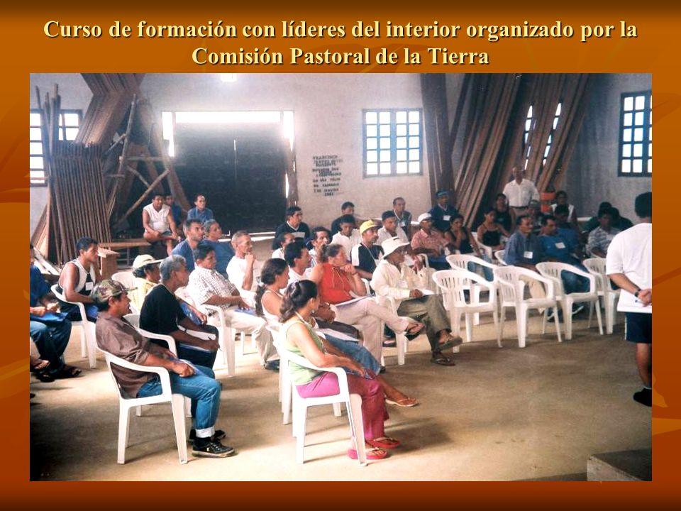 Curso de formación con líderes del interior organizado por la Comisión Pastoral de la Tierra