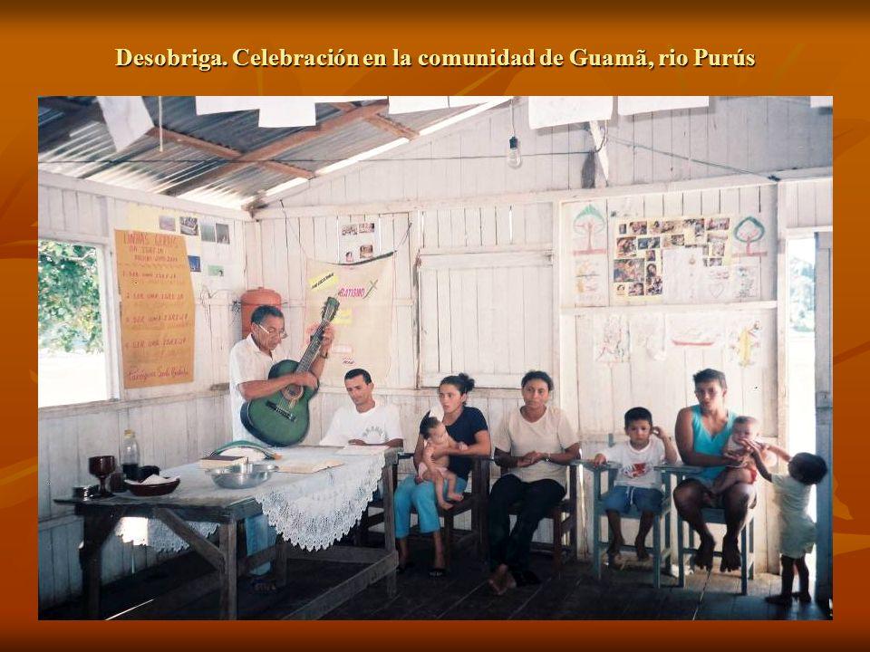 Desobriga. Celebración en la comunidad de Guamã, rio Purús