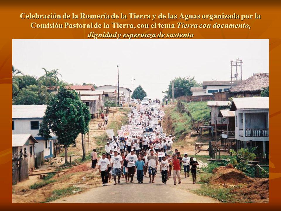 Celebración de la Romería de la Tierra y de las Aguas organizada por la Comisión Pastoral de la Tierra, con el tema Tierra con documento, dignidad y esperanza de sustento