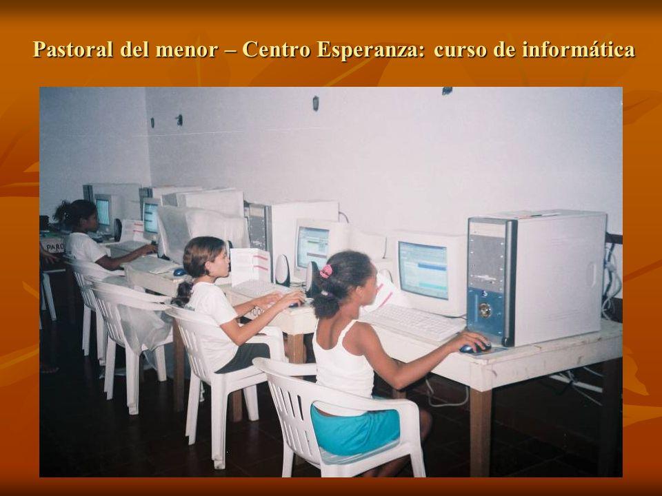 Pastoral del menor – Centro Esperanza: curso de informática