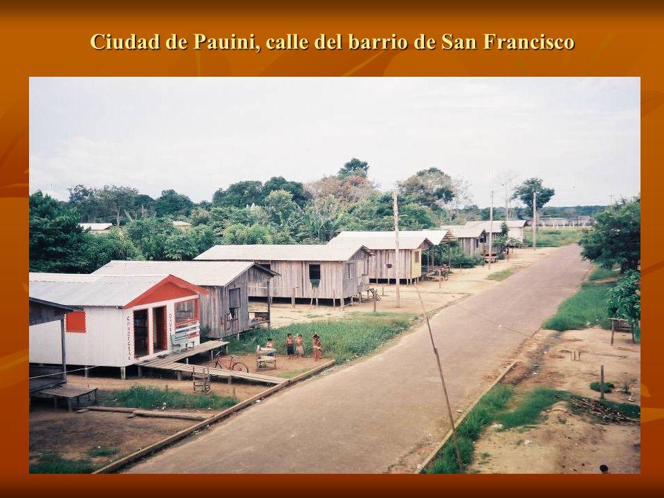 Ciudad de Pauini, calle del barrio de San Francisco