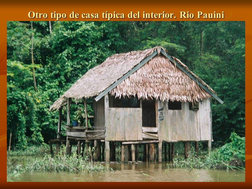 Otro tipo de casa típica del interior. Rio Pauini