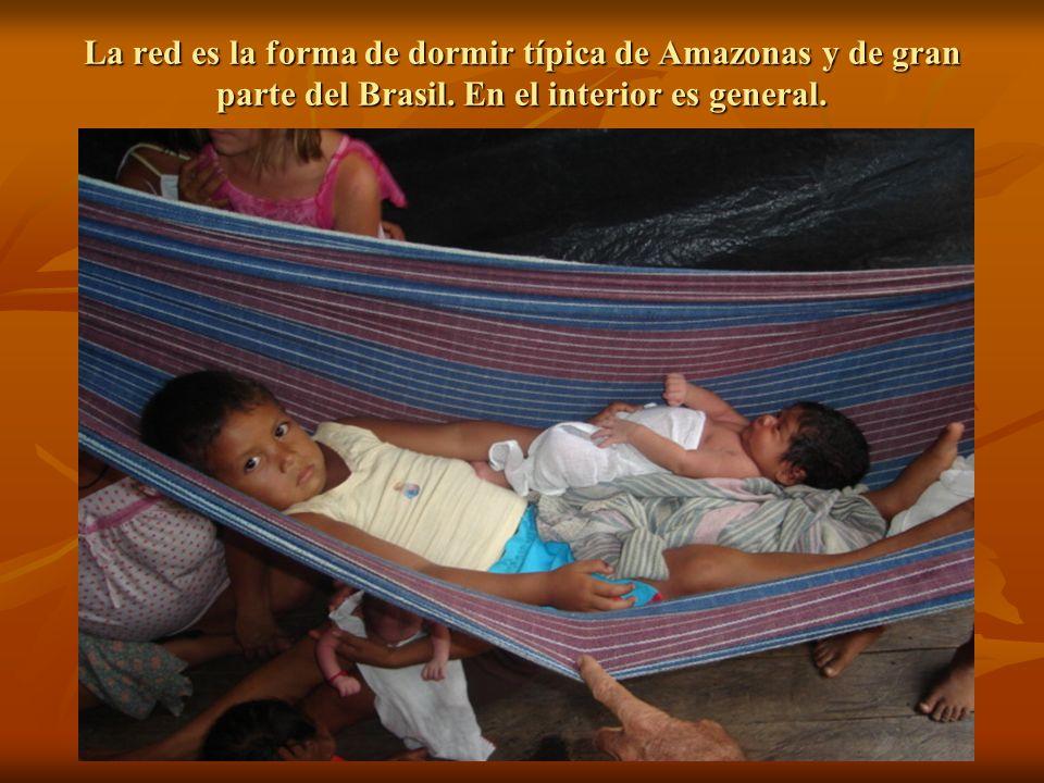 La red es la forma de dormir típica de Amazonas y de gran parte del Brasil.