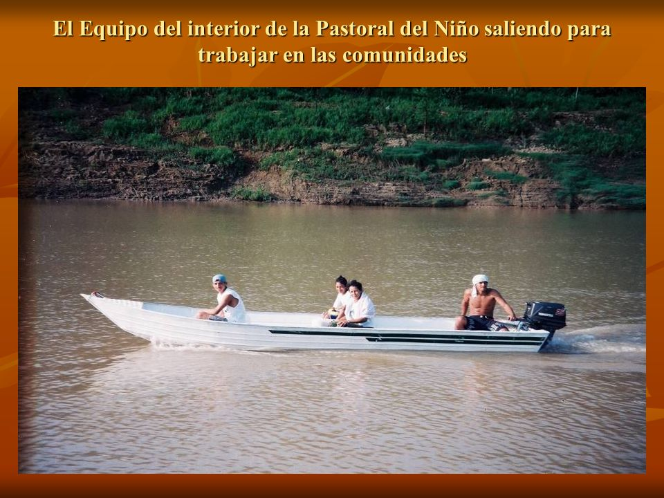 El Equipo del interior de la Pastoral del Niño saliendo para trabajar en las comunidades