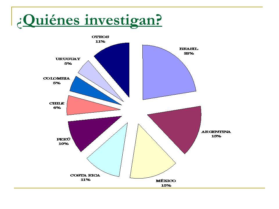 ¿Quiénes investigan -