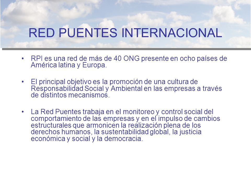 RED PUENTES INTERNACIONAL
