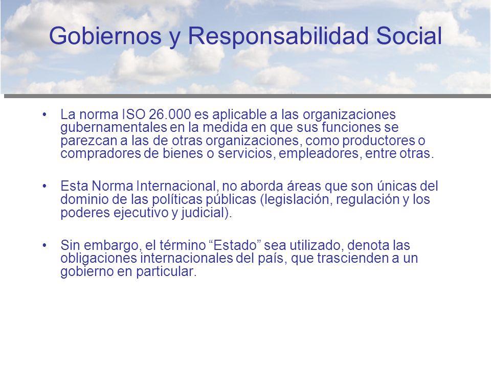 Gobiernos y Responsabilidad Social