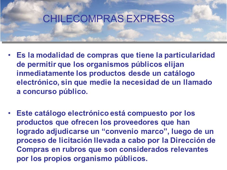 CHILECOMPRAS EXPRESS
