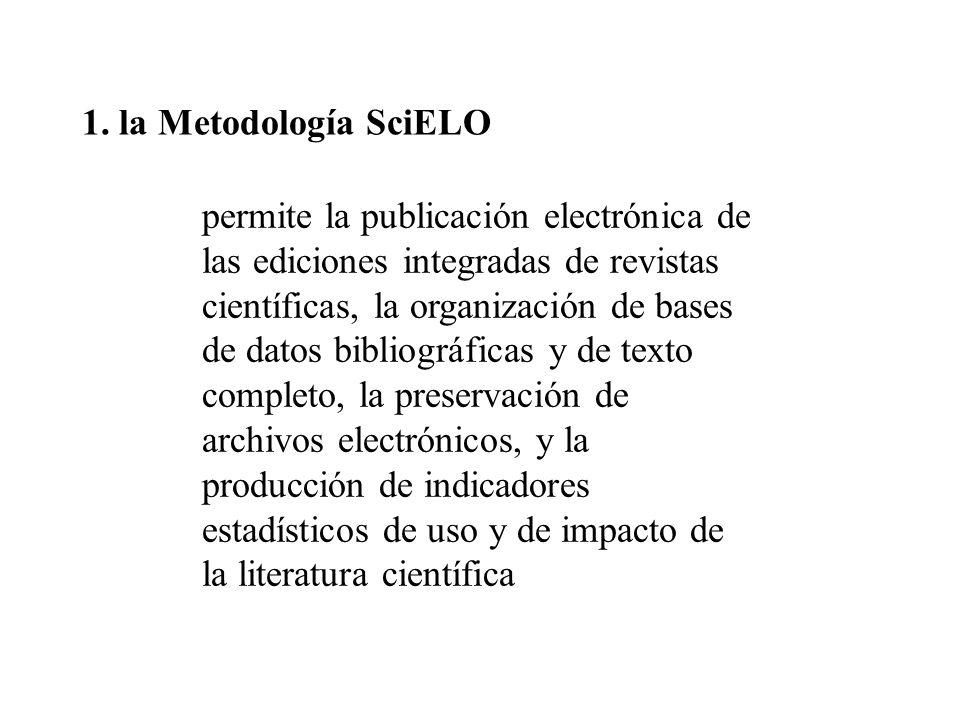 1. la Metodología SciELO