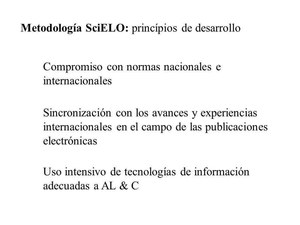 Metodología SciELO: princípios de desarrollo