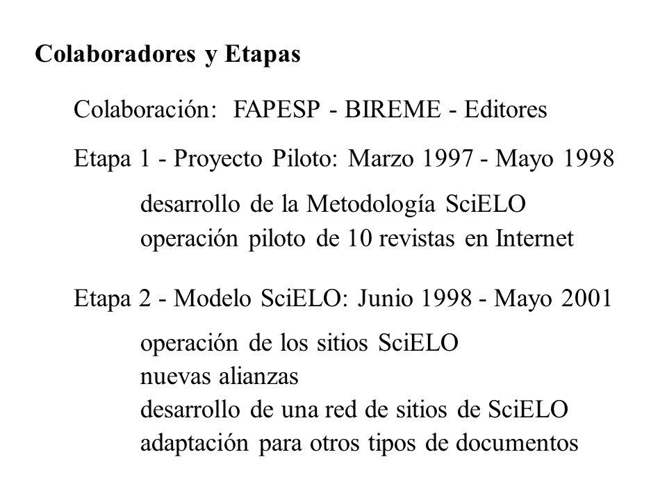 Colaboradores y Etapas