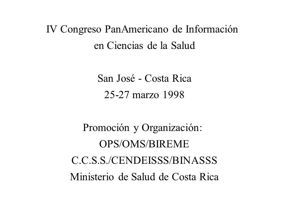 IV Congreso PanAmericano de Información en Ciencias de la Salud