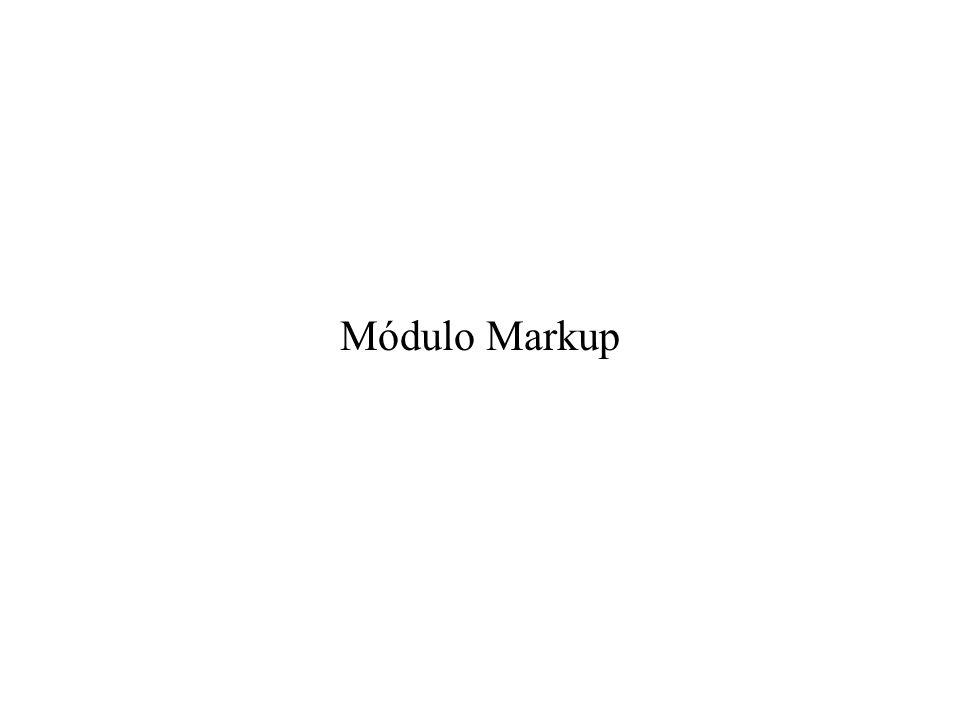 Módulo Markup