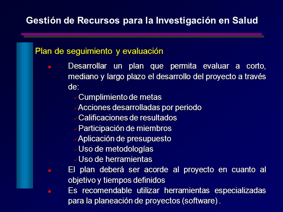Gestión de Recursos para la Investigación en Salud