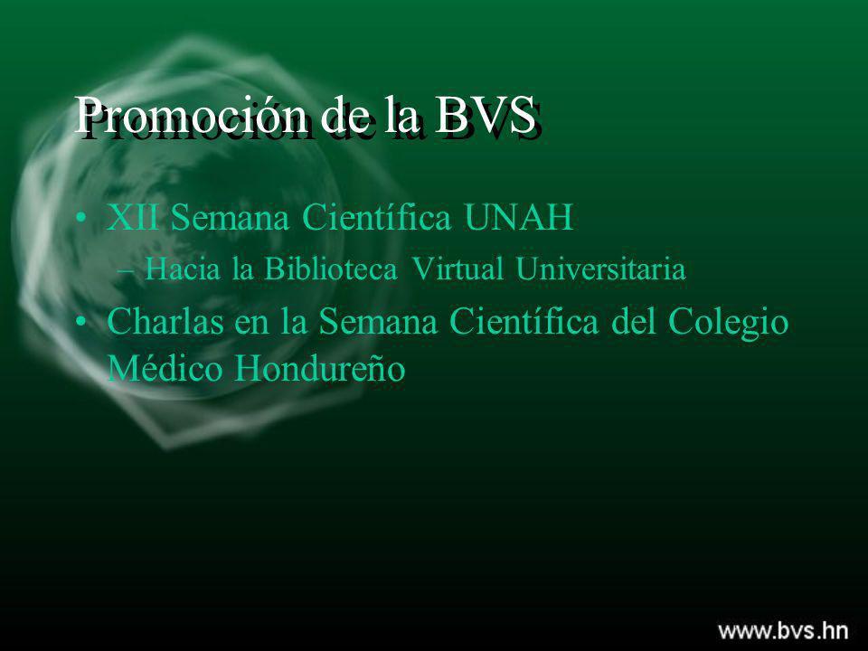 Promoción de la BVS XII Semana Científica UNAH