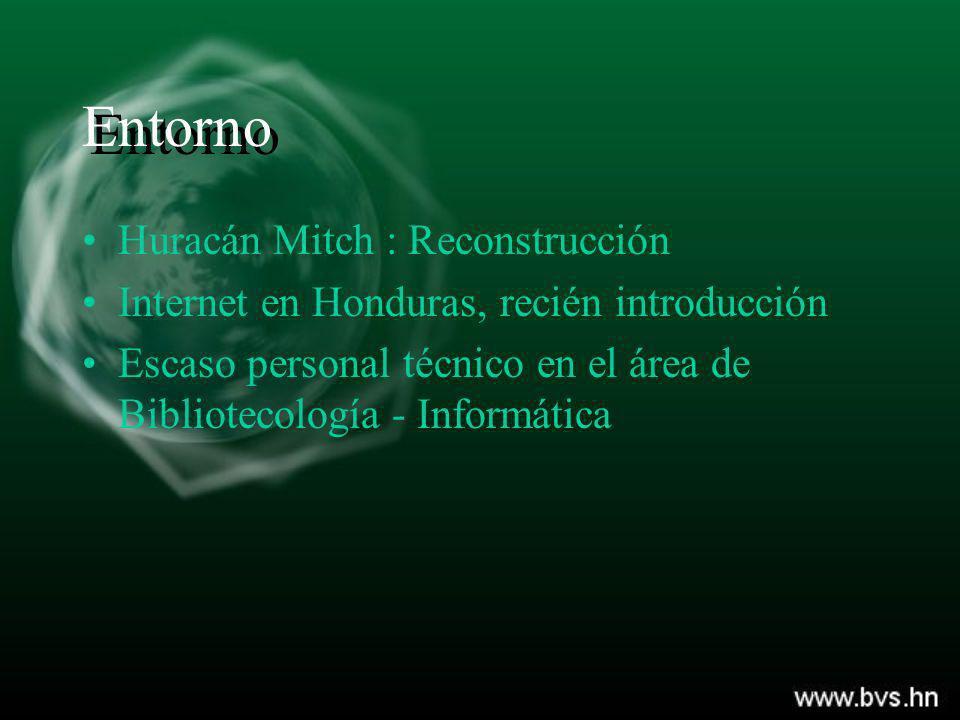 Entorno Huracán Mitch : Reconstrucción